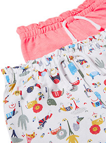 2 Pack Multicoloured Neon Loopback Shorts (0-24 months)