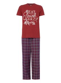 Red Short Sleeve Pyjama Set