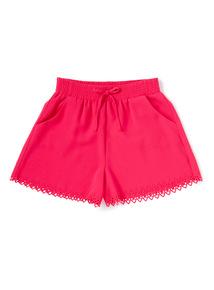 Pink Laser Cut Shorts (3-14 years)