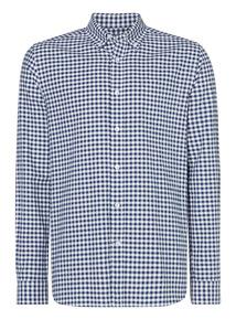 Navy Gingham Oxford Shirt