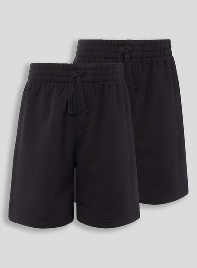 Black Sweat Shorts 2 Pack (3 - 16 years)