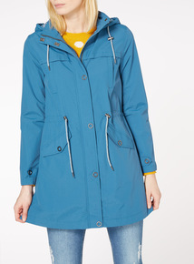 Teal Jersey Lined Parka