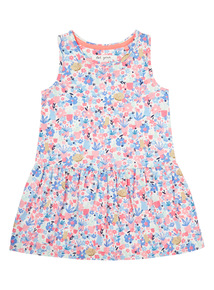 Pink Floral Jersey Dress (9 months - 6 years)