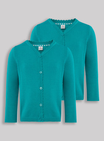 Jade Scalloped Cardigan 2 Pack (3-12 years)