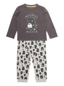 Boys Grey Tee and Jogger Set (0-24 months)