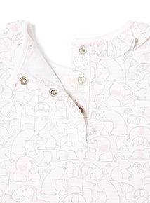 Pink Animal Print Bodysuit (Newborn -12 months)