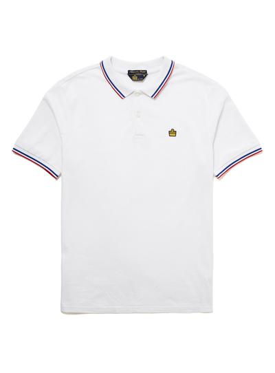 ef7c3254b Menswear Admiral White Tipped Piqué Polo Shirt | Tu clothing