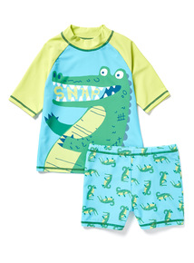 2 Piece Green Crocodile Sunsafe UPF 40 (9 months-6 years)