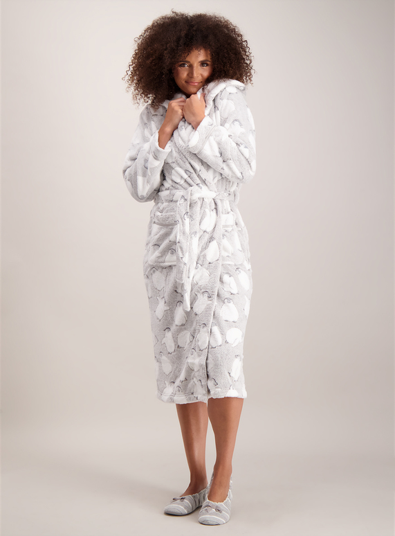 SKU: PENGUIN ROBE LONGLINE:Grey