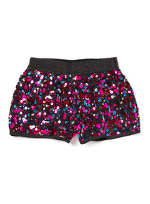 Multicoloured Sequin Party Shorts