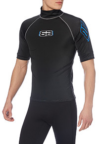 Mens Blue Rash Vest