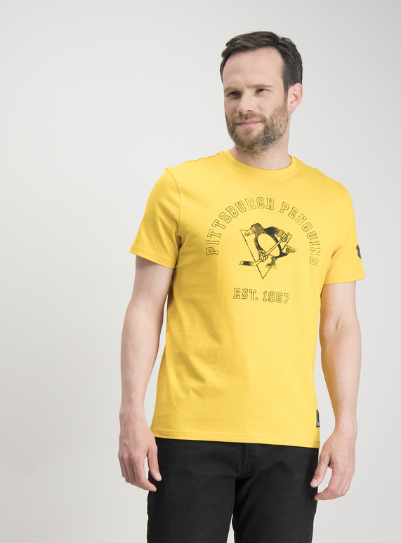 3c05d5e4913c Menswear NHL Pittsburgh Penguins Yellow T-Shirt | Tu clothing