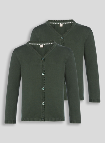 Green Cardigan 2 Pack (3-16 years)
