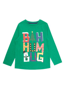 Green Christmas Bah Humbug Tee (9 months - 5 years)