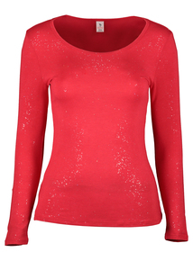 Red 'Heat Active' Sparkle Thermal Crew Neck Top