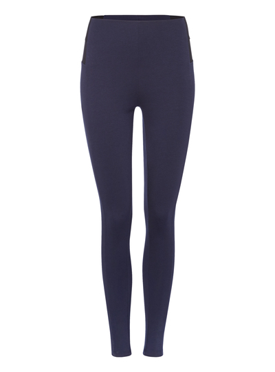 7bbd7408a Womens Navy Ponte Leggings