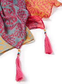 Multicoloured Boho Printed Scarf