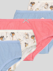Multicoloured Fairy Heart Briefs 10 Pack (18 months - 10 years)