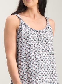 16722ced6a0c8d Multicoloured Scallop Print Plait Detail Vest Top