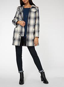Multicoloured Hooded Coat