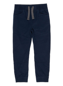 Boys Navy Pull On Trousers (3-12 Years)