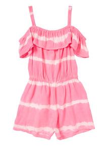Neon Pink Tie Dye Playsuit (3 - 12 years)