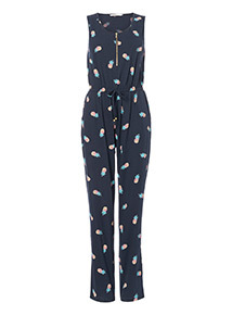 Pineapple Print Jumpsuit