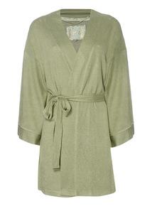Khaki Wrap Robe