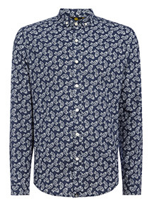 Admiral Navy Paisley Print Shirt