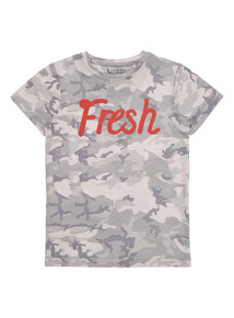Boys Multicoloured Camouflage Fresh Tee (4 - 14 years)