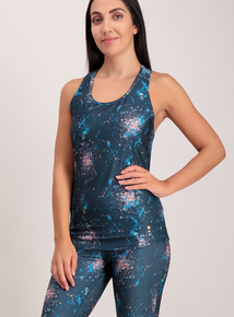 Multicoloured Printed Active Vest