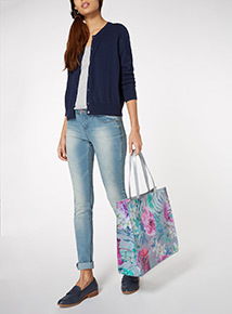 Floral Print Shopper Bag