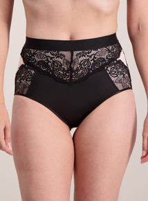 Secret Shaping Black Luxury Lace Knickers