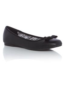 Black Square Toe Ballet Shoes