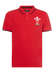 Official Licensed Wales Red Polo