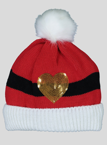 Christmas Red Santa Pom-Pom Beanie Hat (1-13 Years)