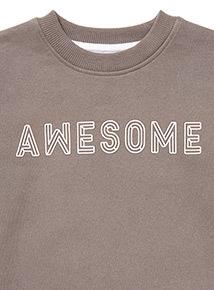 Grey 'Awesome' Sweatshirt (3-14 years)