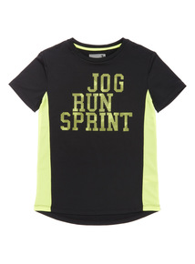 Kids Black Active Layer Top (3-14 years)