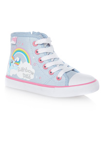 Girls Silver My Little Pony Canvas Shoes