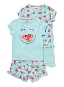 2 Pack Green Watermelon Pyjamas (1.5-12 years)