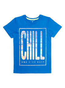 Boys Blue Chill Tee (4 - 14 years)