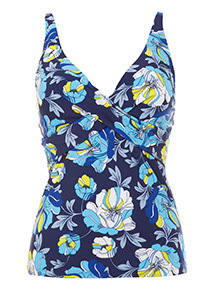 Flower Print Tankini Top