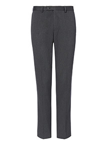 Grey Slim Fit Trousers With Stretch