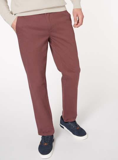 Purple Straight Fit Chinos With Stretch