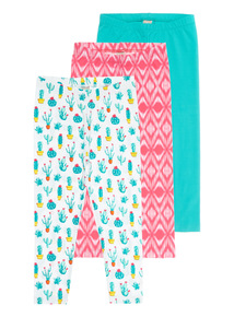 Cactus Leggings 3 Pack (3 - 12 years)
