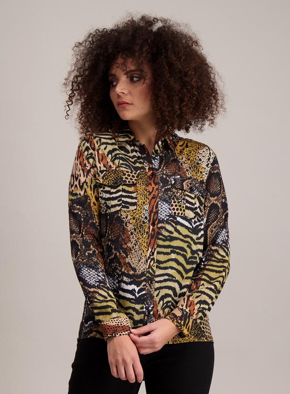 84a81662 Womens Multicoloured Animal Print Shirt | Tu clothing