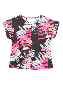 Multicoloured Floral Printed Dance Top (3-14 years)