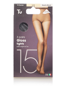 Nearly Black Gloss Tights 15 Denier