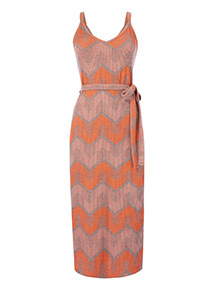 Zig Zag Ribbed Cami Dress