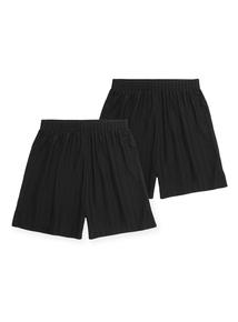 Unisex Black Football Shorts 2 Pack (3-12 years)